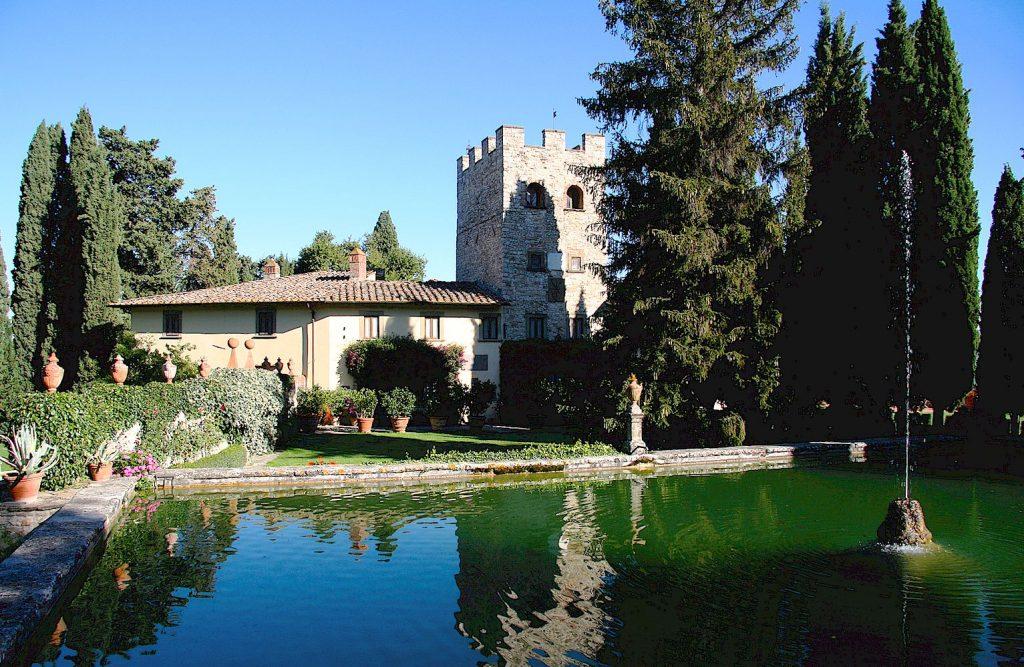 The pond of Castello di Verrazzano