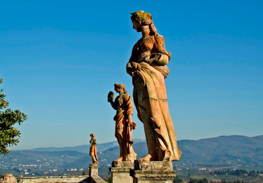 Villa Corsini terracotta statues