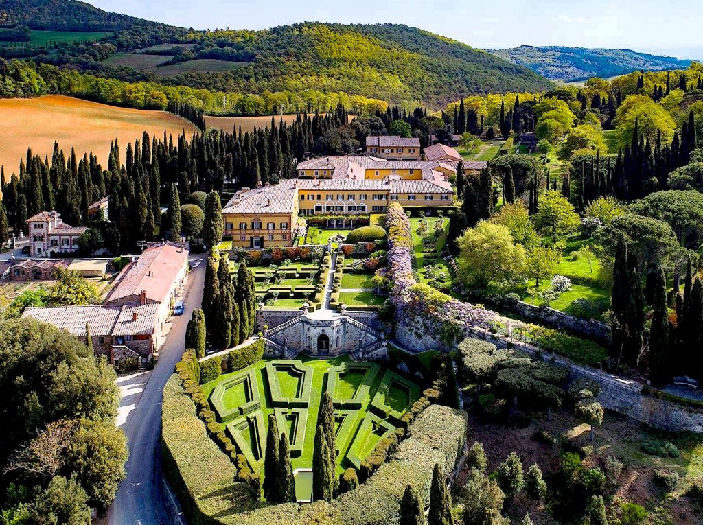 Villa La Foce in the Val d'Orcia of Tuscany