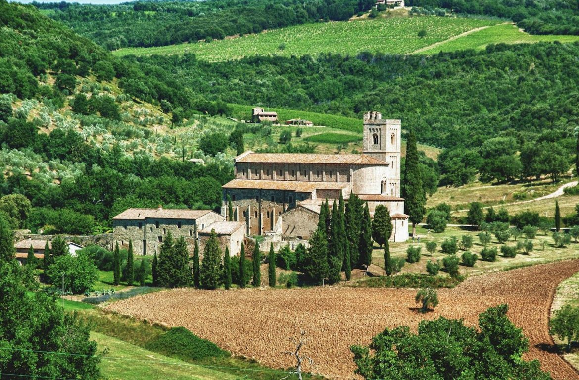 Sant'Antimo – the Abbey of Sant'Antimo near Montalcino